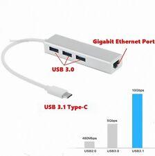 USB-C 3.1 USB Tipo C a USB 3.0 Puertos Hub Ethernet RJ45 ADAPTADOR Macbook 2015