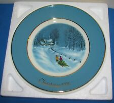 Christmas 1976 Avon 3rd Plate Bringing Home The Tree Wedgewood England