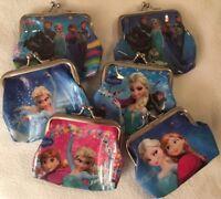 DISNEY FROZEN ANNA ELSA OLAF Girls Clasp Shut Coin Purse 9cm x 8cm MANY DESIGNS