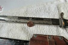 New ListingWw2 German Dress Bayonet K98 long version w/frog In Memory, good maker E. Pack