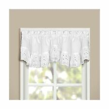 United Curtain Vienna Lace Double Crescent Valance 60 by 15-Inch White