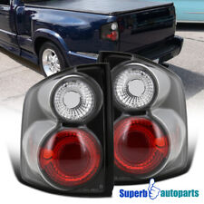 For 1994-2004 Chevy S10/ GMC Sonoma Replacement Tail Lights Black