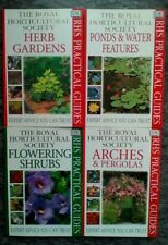 4 Four RHS Practical Guides - Flowering Shrubs Arches Pergolas Herb Pond Water