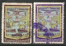 REPUBLICA DOMINICANA Scott # 381-382 Dia del Correo y Telegrafo