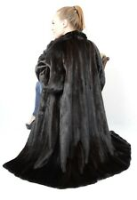 US2144 BEAUTIFUL RANCH MINK FUR COAT FEMALE SKINS JACKET SIZE 2XL - NERZMANTEL