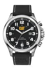 Mens Caterpillar Operator CAT PU14134111 Black Leather Black Dial W Date Watch