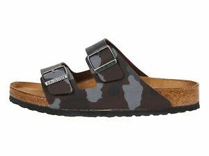 Birkenstock Arizona Camo Brown Men's Soft Footbed Slide Sandals 1013015