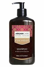 Arganicare Natural Coconut Shampoo for Dry & Damaged Hair 400ml / 13.5fl oz