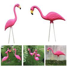 2 Pezzi Realistica Flamingo Fenicottero Statue Prato Ornamento Decorazione