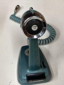 Turner Plus 2 CB Radio Microphone 4 Pin BLUE SSB + 2 Transistorized Untested