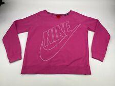Nike Spellout Tick Diagonal Sweatshirt Jumper Crew Neck Pink Retro Size Large L