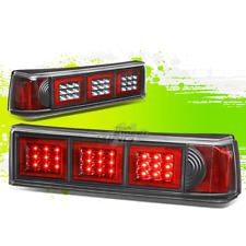 PAIR BLACK LED TAIL LIGHT ALTEZZA STYLE OE REPLACEMENT FOR 87-93 FORD MUSTANG
