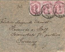 CEYLON Cover KEVII MULTIPLE FRANKING Germany Unusual Envelope 1907 GJ230
