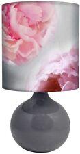 Pink Floral Print Table Lamp Flower Print Bedside Desk Lamp