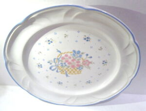 """Country Basket Collection made in Japan 10 1/2"""" Dinner Plate Vintage"""