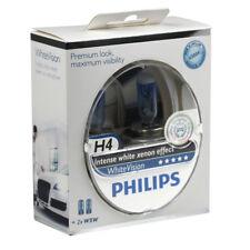 Philips 2er Set Glühlampe Glühbirne H4 60W/55W Intense White Vision Xenon Effect