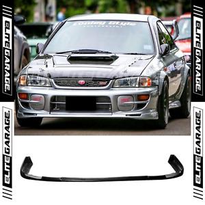 Front Bumper Chin Lip Spoiler Fits: Subaru Impreza GC8 WRX STI (97-00) PU