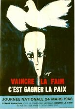 Original vintage poster FIGHT HUNGER - WINN PEACE FRANCE 1968