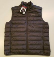 EDDIE BAUER Men's Gray Down Vest Size XL Full Zip Packable Microlight NWT