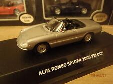 2000 Spider Alfa Romeo Veloce Silver 1-43 Maxi Car Old Skool Classic Car