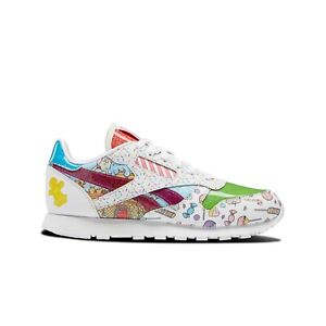 Reebok Candy Land Classic Leather (white/aubergine) Kids Shoes H05079