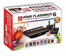 Atari Flashback 6 Classic Game Console 100 Built in Games 2 Wireless Controllers