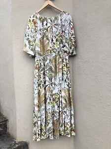 H&M wildflower maxi dress size L VGUC
