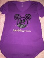 Walt Disney Studios Burbank Womans Shirt Medium Mickey Mouse Purple