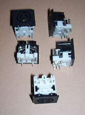 5 x NEW Atari XL 65 130 XE computer console PCB solder 7 pin power plug socket