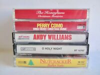 Lot of 5 Christmas Music Cassettes Perry Como, Andy Williams, Nutcracker, & more