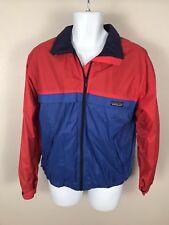 Patagonia Vintage Red Blue Fleece Lined Waterproof Rain Camp Jacket Sz S