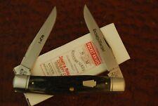 RARE 1 OF 30 SCHATT & MORGAN BY QUEEN REVERSE WORM GROOVE BONE MUSKRAT KNIFE