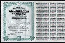 New listing 1910 San Luis Potosi, Mexico: Compania Minera El Barreno y Anexas