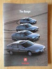 CITROEN RANGE orig 1991 1992 UK Mkt Sales Brochure - AX ZX BX XM
