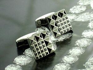 Dupont Cufflinks with 32 Black Diamonds NEW! MSRP $3,100