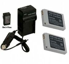 2 Batteries + Charger for Canon SD700IS SD790IS SD800IS SD850IS SD870IS SD880IS