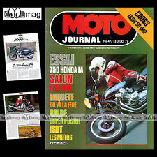 MOTO JOURNAL N°477 HONDA CB 750 FA QRO 50 CROSS COUPE DE L'AVENIR ZOLDER '80