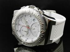Mens Aqua Master Jojo Joe Rodeo White Rubber Swiss Movement Watch 49 MM