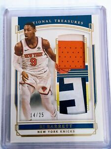 2019-20 Panini National Treasures RJ Barrett RC Rookie 3-Color Patch #14/25