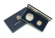 1987 US Constitution 2 Coin Proof Set, $1 & $5, Silver Dollar & Gold Five Dollar