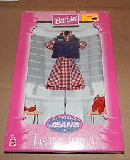 Fashion Avenue Barbie Authentic Jeans Plaid Dress Mattel 1997 NIB 19179  75U
