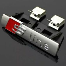 S Line Badge Original OEM Front Grill Emblems Silver Matt Badges Decal All Model