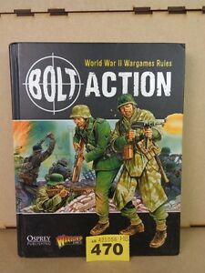 Warlord Games Bolt Action Armies of Germany Hard Cover Rules lot 470