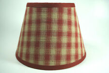 Country Primitive Rusty Nubby Cotton Fabric Lampshade Lamp Shade