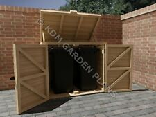 More details for woodwork plans for double wheelie bin store diy (plans only by email)
