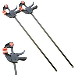 """Neilsen 2pc Quick Grip Ratchet Vice Bar Large Clamps 900mm Rapid Clamp Set 36"""""""