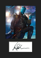 GotG Vol 2 MICHAEL ROOKER (Yondu Udonta) #2 A5 Signed Mounted Photo Print