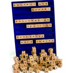 Eduk8 Wooden Spelling Word Board - Children's Educational Game + Teachers Notes