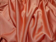 "Orange Shimmer Fabric Slinky Knit 3 Way Stretch Dance Dressmaking 2 YDS 60"" WIDE"
