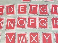 The Pink Series - Big Alphabet Cards ( 56 Card Deck ) Montessori